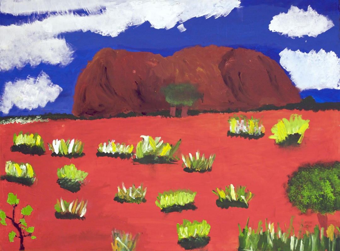 Students painting of Ayers Rock - Uluru