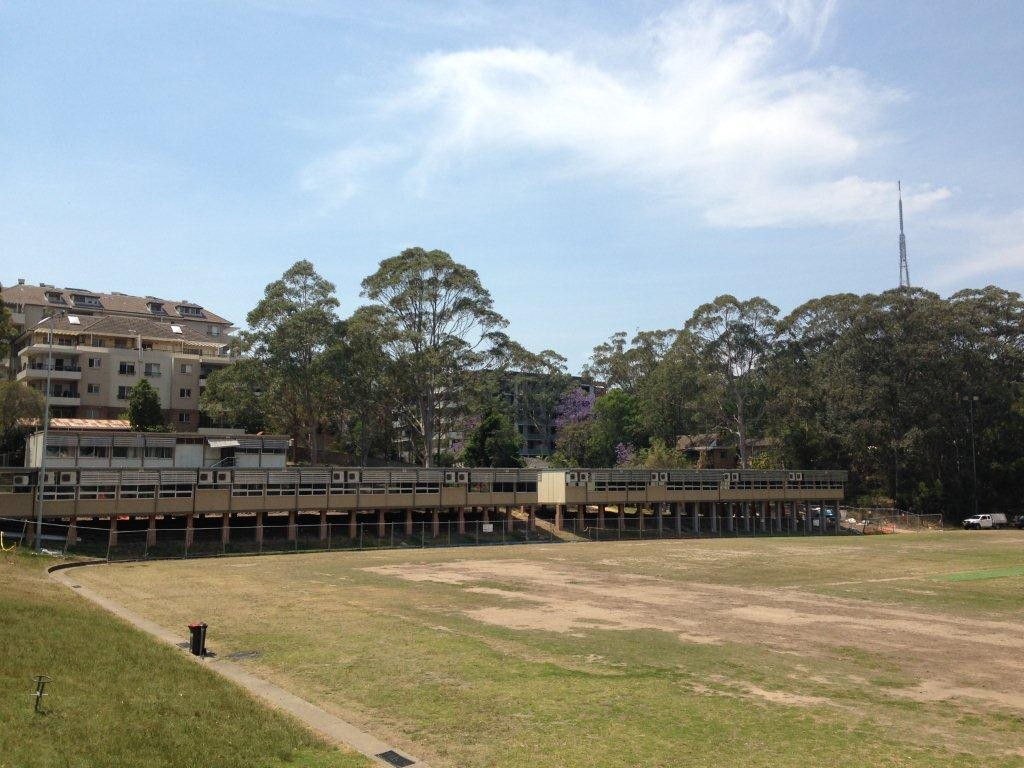 Bush campus buildings at Chatswood High School