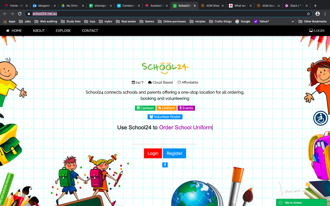School24 website screenshot